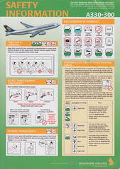 Singapore Airlines A-330-300 (Dmitry's Safety Cards for Trade) Tags: airbus a330 a330300 singapore singaporeairlines safetycard