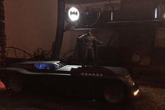 Bat Toys (misterperturbed) Tags: mezco mezcoone12collective sovereignknight blue batman dccomics pxexclusive one12collective btasbatmobile batmantheanimatedseries batmobile billfinger dccollectibles