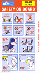 KLM B-737-800/-900 (Dmitry's Safety Cards for Trade) Tags: b737 b737800 b737900 boeing klmroyaldutchairlines netherlands safetycard