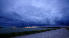 PAYSAGES DE PICARDIE 169 (aittouarsalain) Tags: picardie landscape paysage crotoy baie lagune digue ciel nuages aurore matin