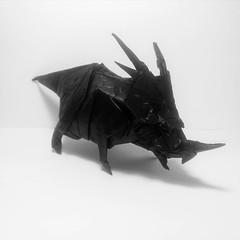Styracosaurus (GGIamBatman) Tags: origami papiroflexia dinosaur dinosaurio satoshi kamiya