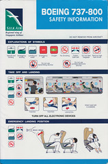 Silk Air B-737-800 (Dmitry's Safety Cards for Trade) Tags: b737 boeing b737800 singapore singaporeairlines silkair safetycard