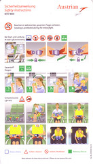 Austrian Airlines B-737-800 (Dmitry's Safety Cards for Trade) Tags: austria austrianairlines boeing b737 b737800 safetycard