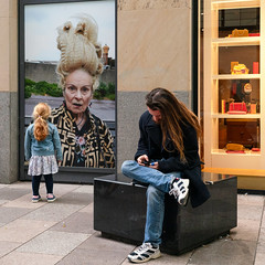 Cardiff - September 2019 (stevedexteruk) Tags: cardiff wales vivienne westwood hair fashion advert advertising billboard poster looking