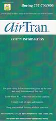 AirTran Airways B-737-700/800 (Dmitry's Safety Cards for Trade) Tags: usa b737 boeing b737700 b737800 airtranairways safetycard