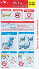 KLM B-737-800/-900 (Dmitry's Safety Cards for Trade) Tags: b737 boeing b737800 b737900 klmroyaldutchairlines netherlands safetycard