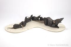キャラバン (ジャコウネズミの親子) / Caravan (Asian musk shrew family) (Gen Hagiwara) Tags: origami paper folding art paperart craft papercraft genhagiwara animal shrew family asianhouseshrew