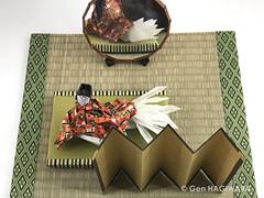 玉藻前 〜正体見たり〜 / Tamamo-no-Mae ~Truth revealed~ (Gen Hagiwara) Tags: origami paper folding art paperart craft papercraft genhagiwara diorama tamamonomae tamamo ninetail fox kyubi myth fantasy japan