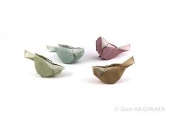 小鳥 / Little bird (Gen Hagiwara) Tags: origami paper folding art paperart craft papercraft genhagiwara bird littlebird