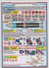 Orenair B-737-800 (Dmitry's Safety Cards for Trade) Tags: b737 boeing b737800 russia orenair safetycard