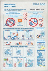 Regional Jet CRJ-900 (Dmitry's Safety Cards for Trade) Tags: dehavillandbombardier canadairregionaljet crj900 estonia nordica regionaljet safetycard