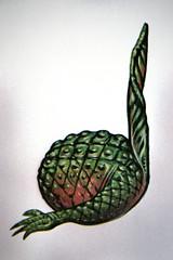Quarter note 39 (wwimble) Tags: quarternote variationsonatheme texture poster reptilian scales foot