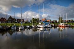 Durgerdam (Julysha) Tags: durgerdam harbour canal thenetherlands noordholland reflection autumn september d810 nikkor1635vr 2019 acr tiffenhtndgrad sky evening clouds yacht boats village