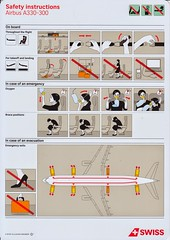 Swiss A-330-300 (Dmitry's Safety Cards for Trade) Tags: airbus a330 a330300 switzerland swiss safetycard