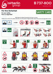 Air Berlin B-737-800 (Dmitry's Safety Cards for Trade) Tags: b737 boeing germany b737800 airberlin airberlingroup tuifly safetycard