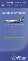 AirTran Airways B-737-700/800 (Dmitry's Safety Cards for Trade) Tags: b737 boeing usa b737700 b737800 airtranairways safetycard