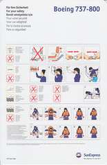 SunExpress B-737-800 (Dmitry's Safety Cards for Trade) Tags: b737 boeing b737800 turkey sunexpress safetycard