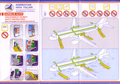 Azerbaijan Airlines A-319 (Dmitry's Safety Cards for Trade) Tags: a319 airbus azerbaijan azerbaijanairlines safetycard