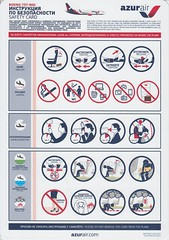 Azur Air B-737-800 (Dmitry's Safety Cards for Trade) Tags: b737 boeing b737800 russia katekavia azurair safetycard