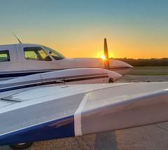 Morning Push - EWB (kerainey7) Tags: airport airplane aviation cessna twin sunrise fly