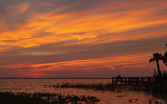 Sunset over Lake Washington (Michael Seeley) Tags: dorian florida hurricane lakewashington melbourne mikeseeley