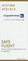 Copa Airlines B-737-800/-8/-9 (Dmitry's Safety Cards for Trade) Tags: b737 boeing b737800 copaairlines panama b7378 b7379 safetycard