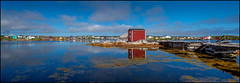 Tilting (Rodrick Dale) Tags: premises tilting fogo island newfoundland canada reflections water sky cloud