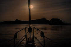 The gloaming hour.... (Dafydd Penguin) Tags: gloam gloaming hour sun sunset orange sea water sail sailboat yacht yachting sailing super superyacht dusk island anchor anchorage angistri saronic gulf greece mediterranean leica m10 35mm summicron f2 asph