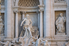 Trevi Fountain or Fontana di Trevi detail of the statue of the God of the Ocean, Rome, Italy (OLF Picture) Tags: fontanaditrevi trevifountain touristic town cityscape attraction sight vacation piazza historic cascade tourism european facade outdoor tourist landscape antiquities masterpiece historical old day marble city column arch roman fontana landmark europe travel fountain trevi rome roma baroque statue ancient water bernini neptune monument italy architecture art famous artistic italian sculpture stone