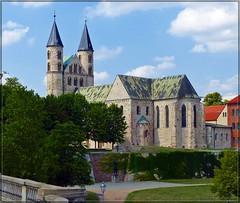Kloster Unser Lieben Frauen in Magdeburg (Christoph Bieberstein) Tags: deutschland germany sachsenanhalt saxonyanhalt magdeburg kirche church 2019 juli july kloster unser lieben frauen monastery romanik basilika