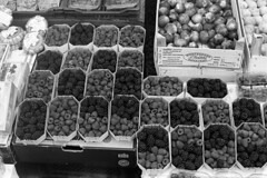 Delicious, colorful berries.....  (Tri-X 400) (Harald Philipp) Tags: montenegro kotor fruit berries colorful market nikon fm3a kodak trix d76 iso400 mono monochrome bw film analog analogue travel tourism cooolscan 5000ed