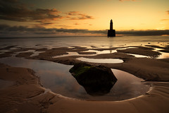 Sunrise at Rattray head (Explored #51) (PeskyMesky) Tags: rattrayhead lighthouse scotland sunrise sunset landscape red sky dof depthoffield canon canon5d eos aberdeenshire