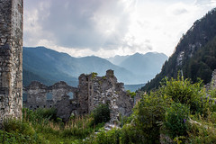 Before the storm (LittleZetty) Tags: ehrenberg ruins austria mountains alps castle history sky clouds europa