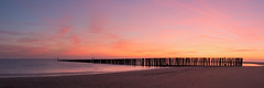 Golden hour Breskens (In Flanders Fields Photography) Tags: panorama panoramic landscape nature seascape view colors golden hour sunrise jetty pier beach water