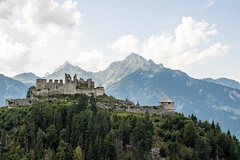 At the top of mountain for 700 years (LittleZetty) Tags: ehrenberg castle ruins mountains alps austria clouds line179 sky