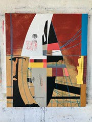 Jim Harris: Energy Harvesting Platform, Ravenscar, North Yorkshire. (Jim Harris: Artist.) Tags: art arte artist painting abstract lartabstrait kunst malerei technology technik