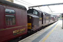 West Coast Railways 37518 - 37706 - 37669 (Will Swain) Tags: county uk travel west station train britain country north transport rail railway august trains lancashire vehicles vehicle preston 11th railways 2019 from tractor coast crewe lancaster 37 tri 518 669 tripple wcr 706 37706 37518 37669 england town cheshire class