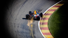 Red Bull @ Spa - Let The Sparks Fly (Stoner Two Shoes) Tags: red max sports rouge eau f1 bull sparks formula1 spa verstappen