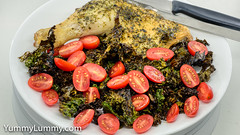 MEATER™ made chicken and kale (garydlum) Tags: chicken kale tomatoes canberra australiancapitalterritory australia