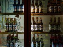 bottles in  the rack (kasa51) Tags: beer craftbeer refrigerator sign handwriting yokohama japan クラフトビール