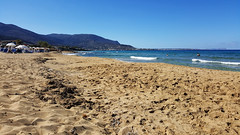 Beach in Malia / Плажът в Маля (mitko_denev) Tags: kreta griechenland крит гърция κρήτη crete greece hellas ελλάσ ελλάδα μάλια маля малия malia mallia mediterranean средиземноморе beach sand плаж пясък