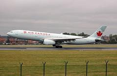 Air Canada Airbus A330 - 343  C-GHKX landing at Zaventem août 2019  2019-08-17 08-47-31  - G55A2013 - mod et signe (vincent.lempereur) Tags: bru~airport bru aircanada airbus avion civilaviation zaventem brusselsairport plane