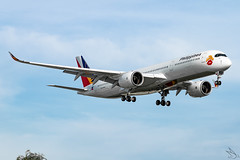 Philippine Airlines - Airbus A350-941 / RP-C3508 @ Manila (Miguel Cenon) Tags: pal pala350 pala359 pra350 pra359 philippineairlines planespotting ppsg philippines plane pr rpll airplane airplanespotting apegroup appgroup airport airbus airbusa350 airbusa359 a359 a350 manila nikon naia d3300 wings widebody widebodyjet wing twinengine fly flying jet rollsroyce rrtrent trentxwb sky aircraft window cockpit building city speciallivery lovebus rpc3508