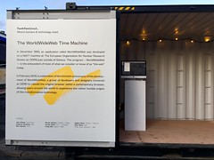 If you're at Techfestival.co in Copenhagen, drop in to this shipping container where I'll be demoing WorldWideWeb.cern.ch