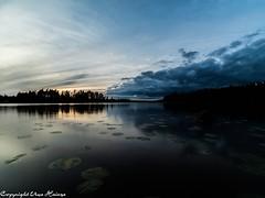 Sonnenuntergang am Läen 082019 05 (U. Heinze) Tags: schweden sverige sweden sonnenuntergang smaland läen see lake landschaft wasser sky himmel olympus omd em1markii panasonic 818mm