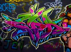 Failing Your Eyesight Test (Steve Taylor (Photography)) Tags: joy graffiti streetart tag colourful vivid uk gb england greatbritain unitedkingdom london lady woman outline leakestreet