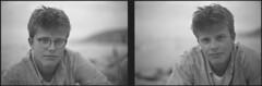 burning up his matches (steve-jack) Tags: nikon f5 50mm ilford delta 100 film 135 perceptol epson v500 boy portrait