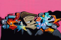 graffiti (Greg M Rohan) Tags: nikon d750 nikkor 2019 pink streetart black art graffiti artwork artist graff creativeart spraycanart spraypaintart aerosolart
