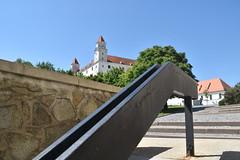 Bratislava Castle, Happy Fence Friday (HFF)Bratislava, Slovakia. (Manoo Mistry) Tags: bratislava slovakia europe fence happyfencefriday staircase brati
