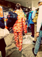 First day on Wall Street (tubblesnap) Tags: street photography motorola wall bricking it garish clothing suit